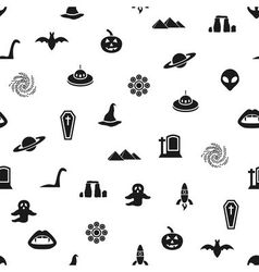 Mystic seamless pattern vector