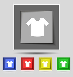 T-shirt clothes icon sign on the original five vector