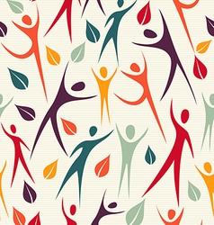 Human shapes seamless pattern vector