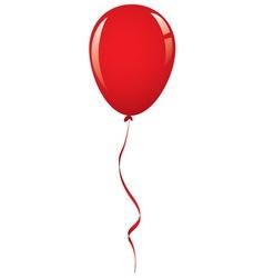 Red balloon ribbon vector