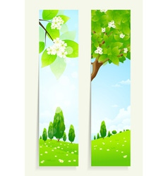 Two cool vertical banners vector