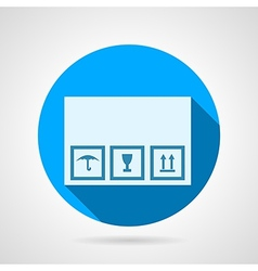 Flat icon for delivery box vector