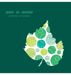 Abstract green circles leaf silhouette vector