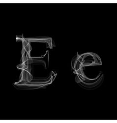 Smoke font letter e vector