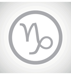 Grey capricorn sign icon vector