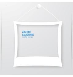 Photo frame banner vector