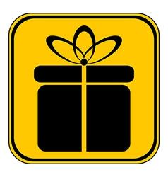 Gift button vector