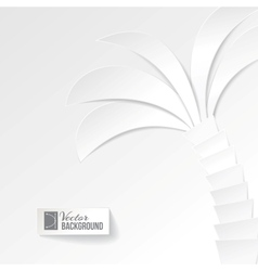 Palm tree on white background vector