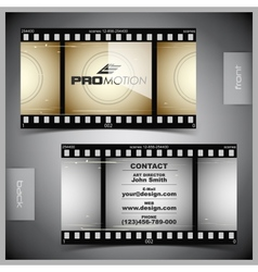 Set of creative business cards film vector