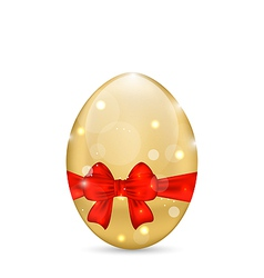Easter paschal shine egg with red bow vector