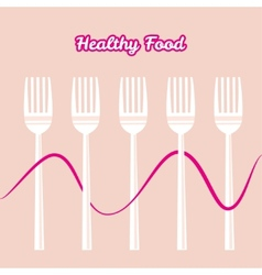 Tableware set of fork vector