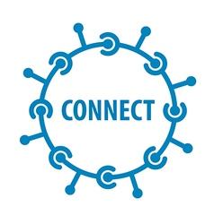 Logo round chip network vector