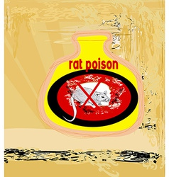 Bottle of rat poison vector