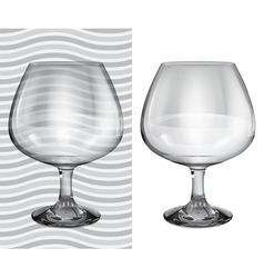 Transparent and opaque realistic brandy glasses vector