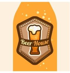 Beer house vector