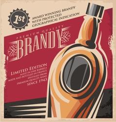 Brandy vintage poster design template vector