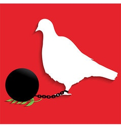 Pigeon of peace vector