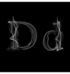 Smoke font letter d vector