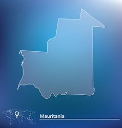 Map of mauritania vector