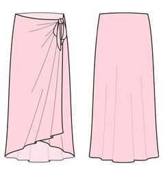 Beach skirt vector