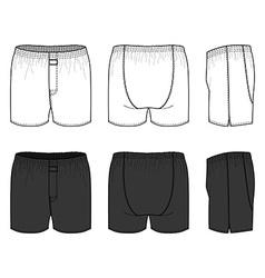 Woven boxers vector
