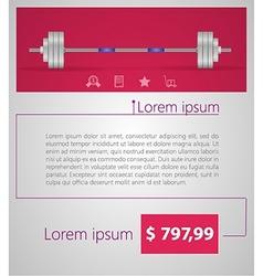 Flat minimalist template business design barbell vector