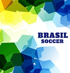 Abstract soccer game vector