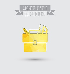 School bag with stationery symbol office or school vector