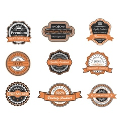 Set of retro premium labels vector