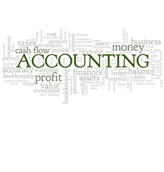 Accounting word cloud bubble tags tree vector