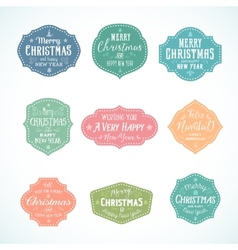 Vintage typography soft color cute christmas vector