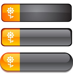 Flower button set vector