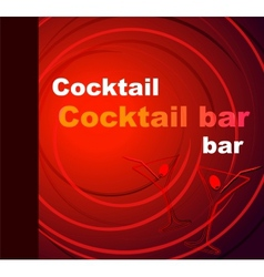 Template of a cocktail bar vector