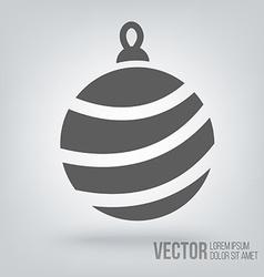 Icon christmas toys vector