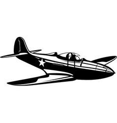 Fighter aircobra vector