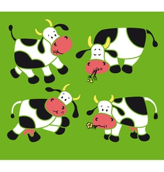 Four cows vector