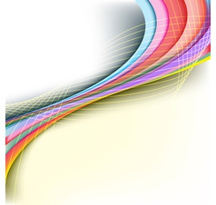 Abstract rainbow arrow banner vector