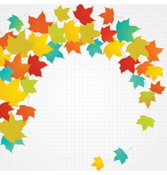 Autumn flying leaves with blank copy space vector