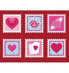 Valentine stamps vector