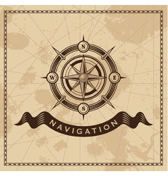 Wind rose - nautical compass vector
