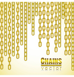Gold link chain dangling vector