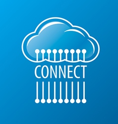 Logo to connect to the cloud network vector