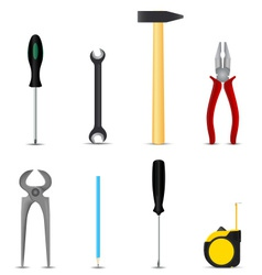 Set of hand tools hobby vector