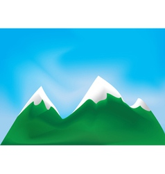 Mountains and sky vector