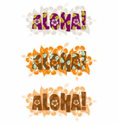Illustration of aloha word vector