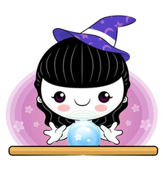 Cartoon tarot child vector
