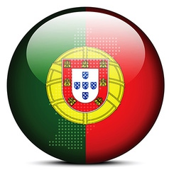 Map with dot pattern on flag button of portuguese vector