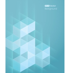 Abstract background with cube vector