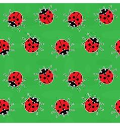 Ladybirds seamless pattern vector