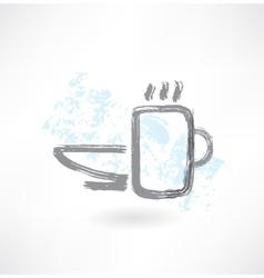 Tableware grunge icon vector